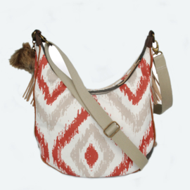 Crossbody Navajo style cream with fringes