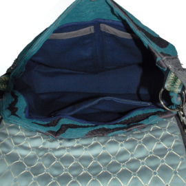 Western crossbody bag turquoise messenger model