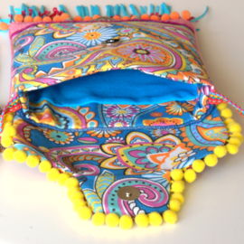 Festival purse Ibiza style colored with concho's