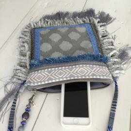 Fringe festival purse gerecycled jeans boho