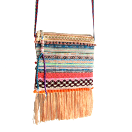 Festival bag hippie style colored with fringe