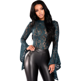 Wetlook 'n lace co-ord