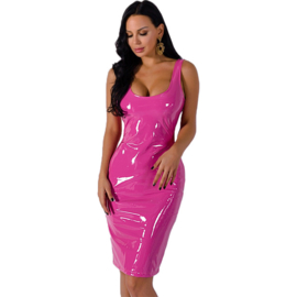 Lakleer maxi jurk