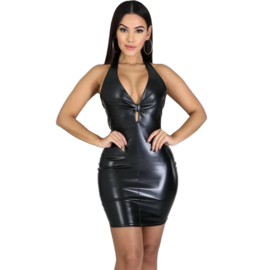 Wetlook halter dress