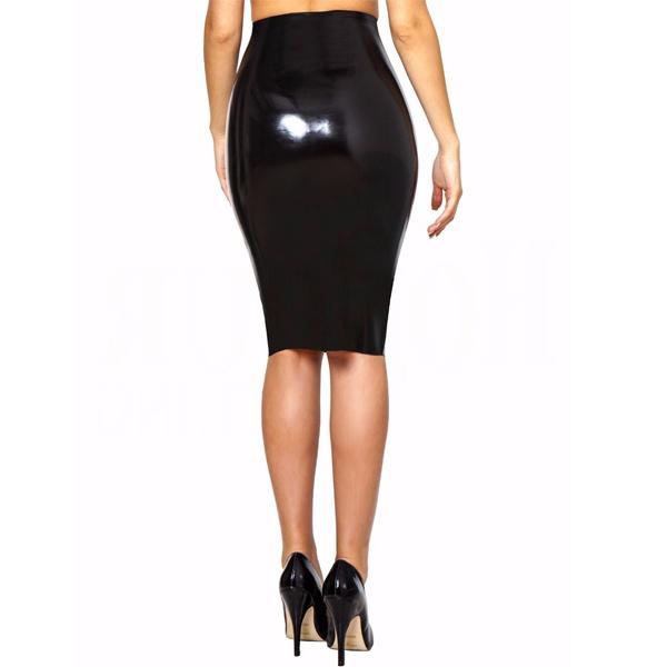 Latex pencil skirt