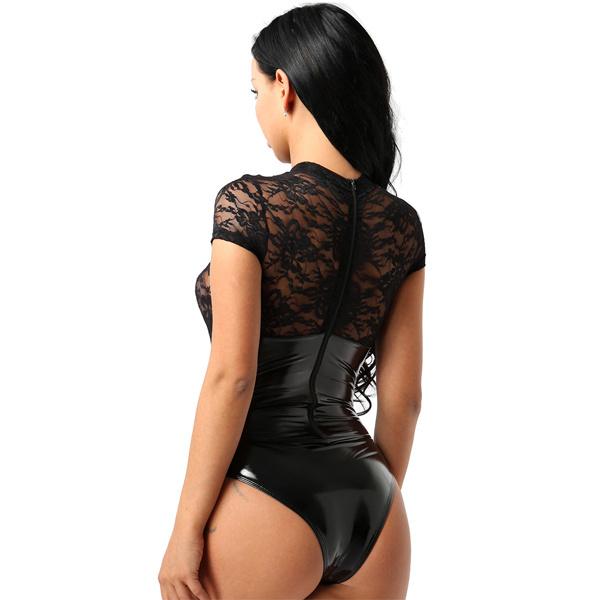 Lakleer/kant bodysuit