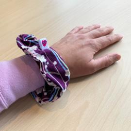 Bloemen scrunchie - paars