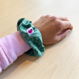 Scrunchie - groen met libellen