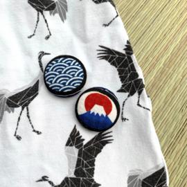 Button - blauw