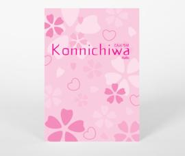 Ansichtkaart Konnichiwa - Hallo