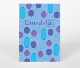 Ansichtkaart Omedetou - Gefeliciteerd