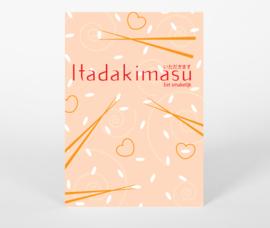 Ansichtkaart Itadakimasu - Eet smakelijk