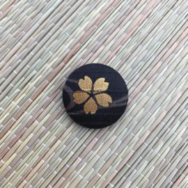 Button - zwart met goud