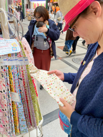 Kinchaku polstasje - matcha & wagashi