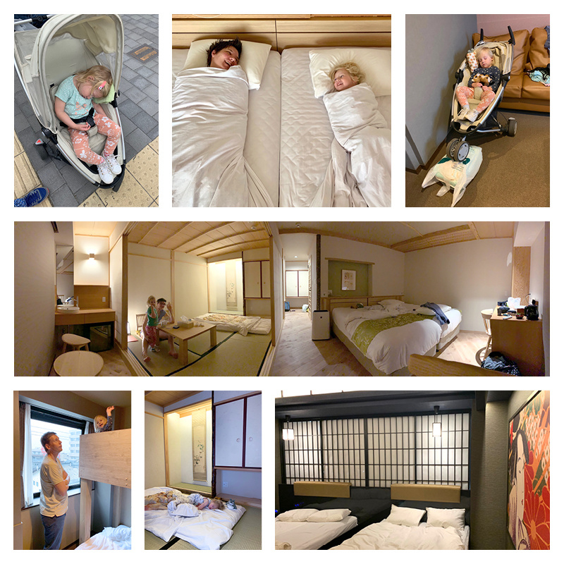 Met een peuter naar Japan - het slapen