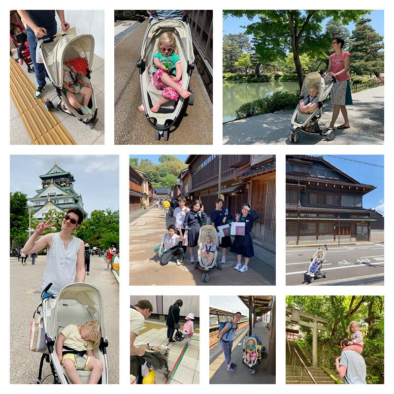 Met een peuter naar Japan - kinderwagen