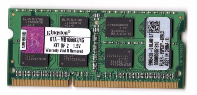 DDR3 geheugen 4GB Kingston KTA-MB1066K2/4G