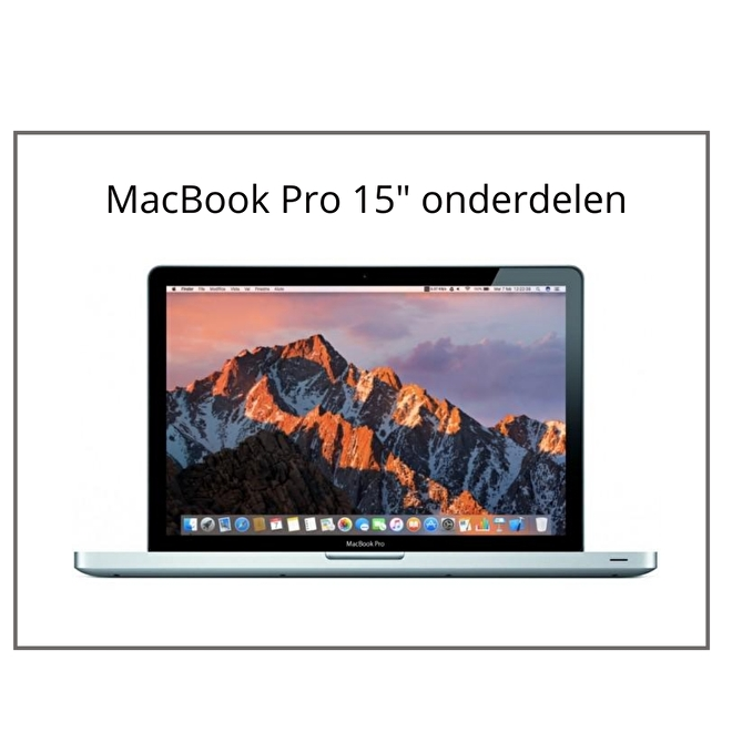 MacBook Pro 15 inch onderdelen