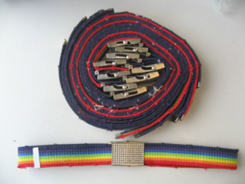 R 000 - Riemen Regenboog - 12 stuks