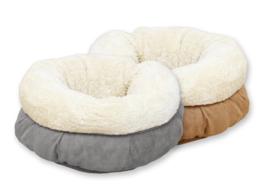 Lambswool Donut Bed voor Kat of kleine hond