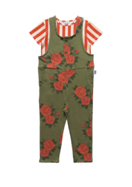 DUNGAREE // GREEN ROSES