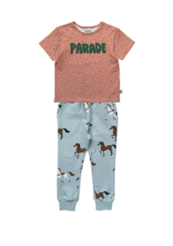 CONFETTI T-SHIRT + HORSES SWEATPANTS