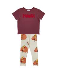 PURPLE PARADE T-SHIRT + BANANA LEGGINGS