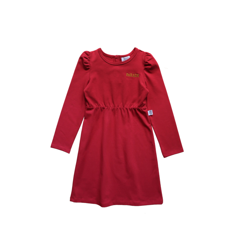 PUFFED DRESS // RED