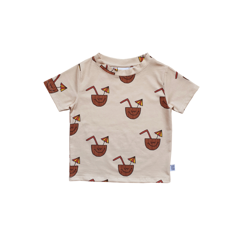 T - SHIRT // COCONUT AOP