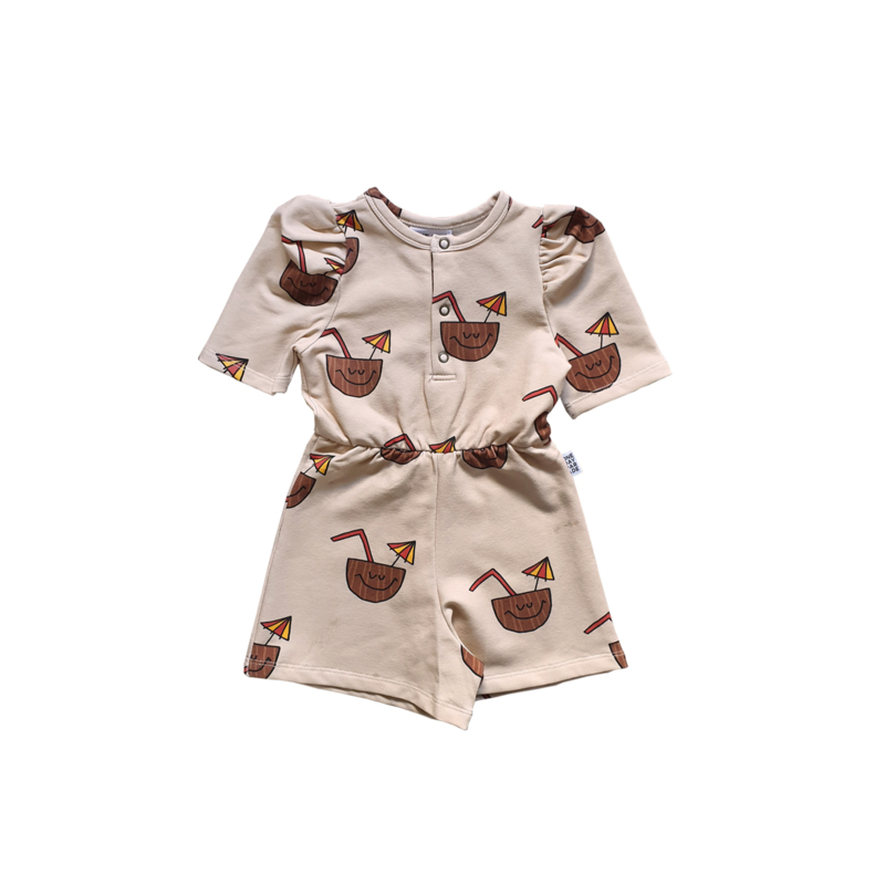 PUFFED PLAYSUIT //  COCONUT