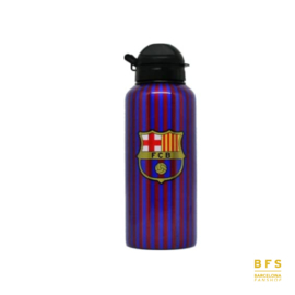 FC Barcelona - Bidon blauw/rood stripes aluminium