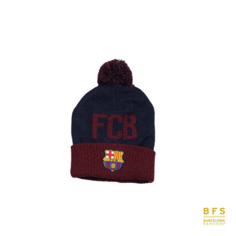 FC Barcelona - Muts blauw pompom junior
