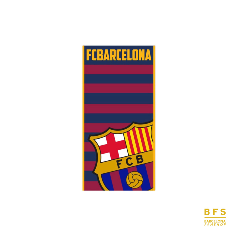 FC Barcelona - Handdoek rood/blauw logo