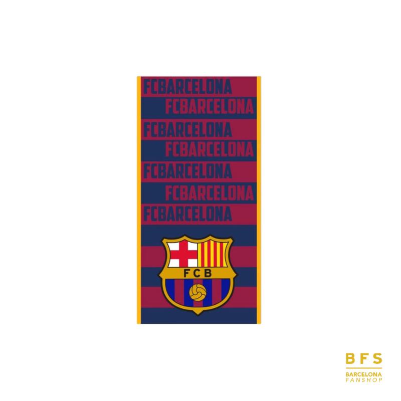 Barcelona - Handdoek rood/blauw teksten