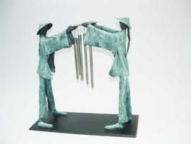 Basis met 4 metalen pinnen 20 cm