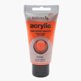 Reeves Acrylverf Orange, tube 75 ml