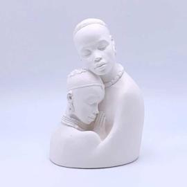Plaster head couple 14 cm