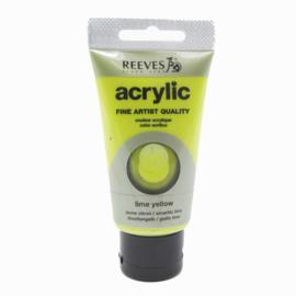 Reeves Acrylverf Limoengeel, tube 75 ml