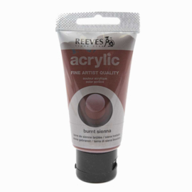 Reeves Acrylverf Burnt Sienna, tube 75 ml