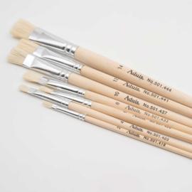 Set van 7 varkensharen penselen