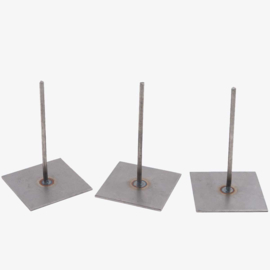 3 metal base pins 15 cm