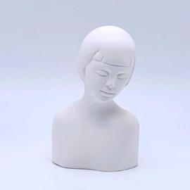 Gips hoofdje vrouw 9 cm