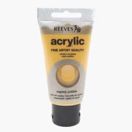 Reeves Acrylverf Naples Yellow, tube 75 ml