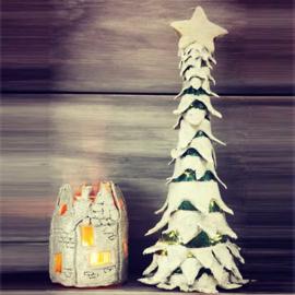 Kerstboom en huisje