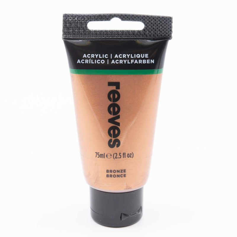 Reeves Acrylverf Bronze, tube 75 ml