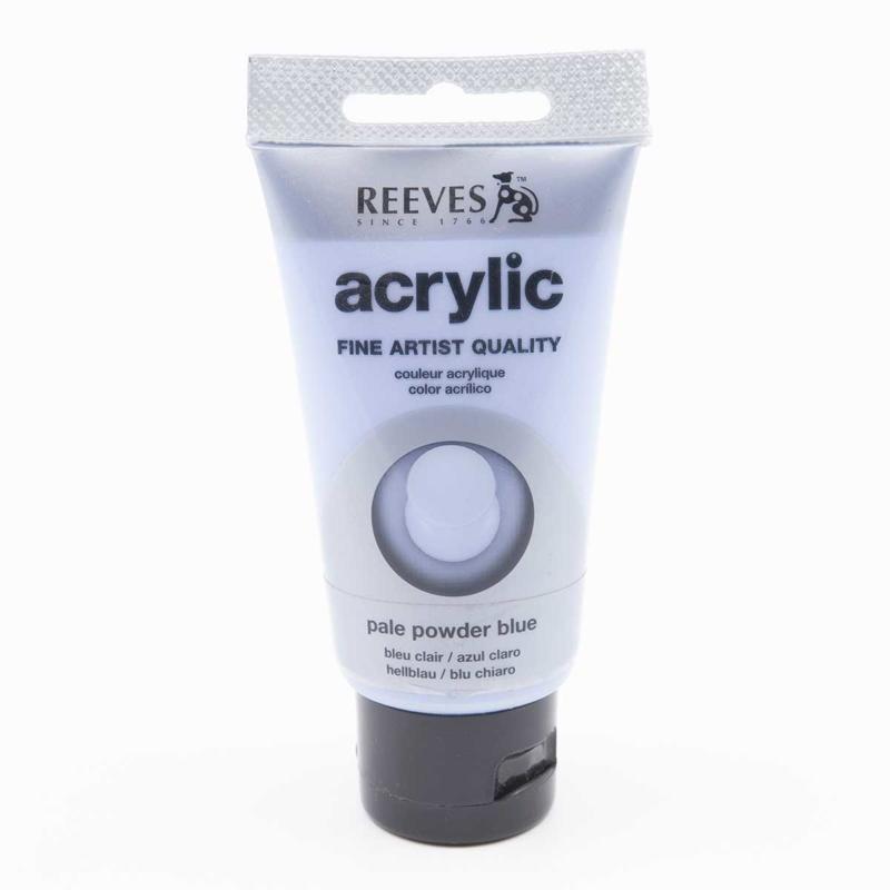 Reeves Acrylverf Pale Powder Blue, tube 75 ml