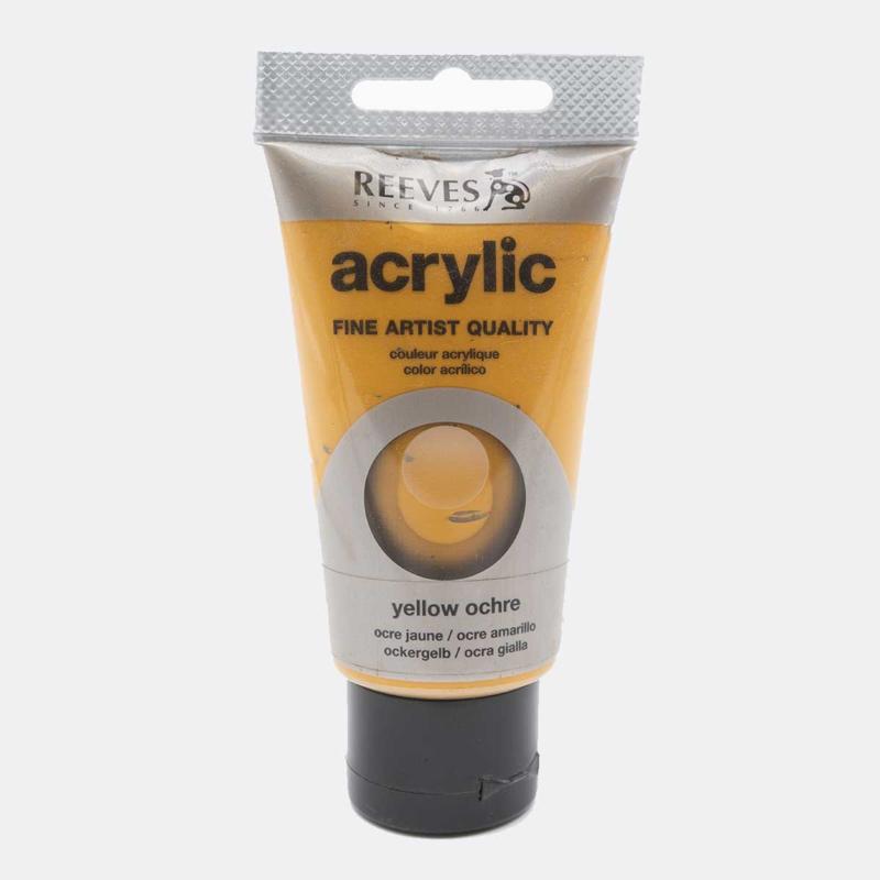 Reeves Acrylic Gele Oker, tube 75 ml