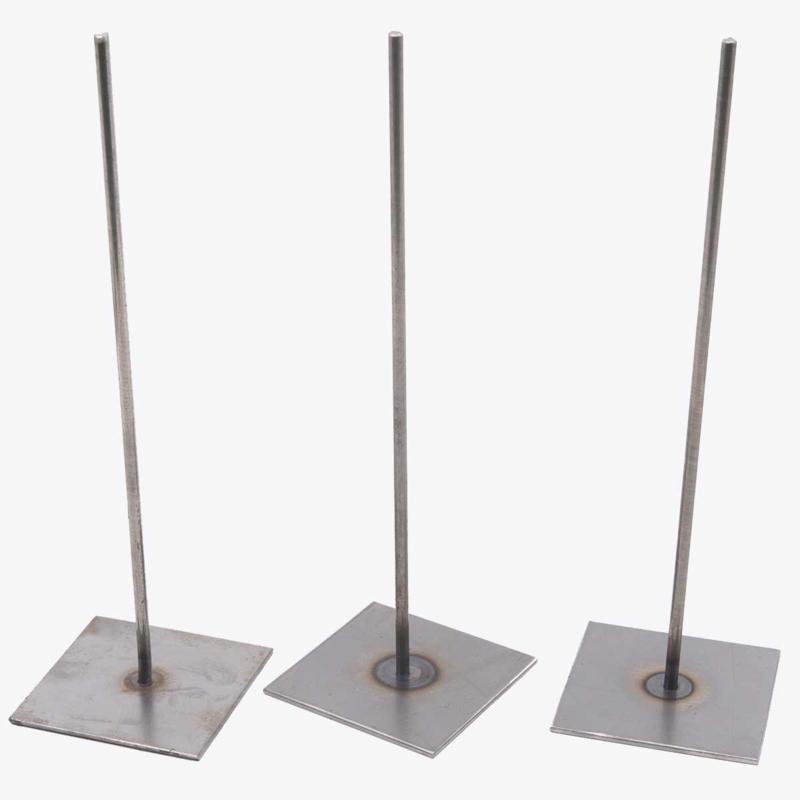 3 metalen pinnen van 30 cm