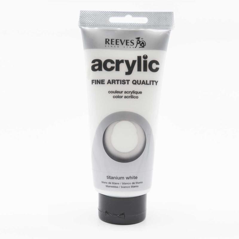 Reeves Acrylverf Titanium White, tube 200 ml