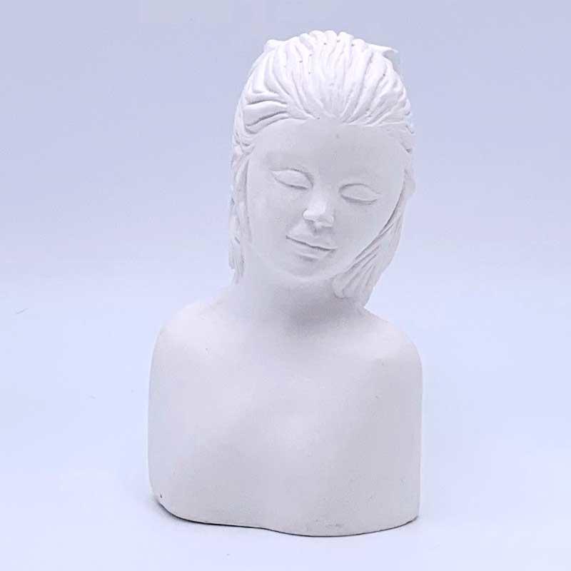Gips hoofdje vrouw 11 cm